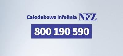 Całodobowa infolinia NFZ (800 190 590)