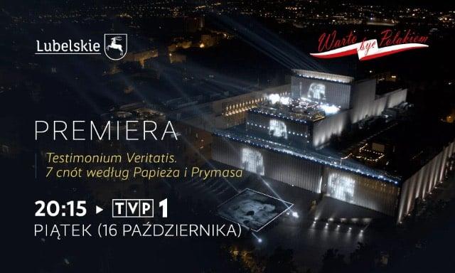 Już dzisiaj o godz. 20:15 w TVP1 zostanie wyemitowane niezwykłe widowisko telewizyjne!!!